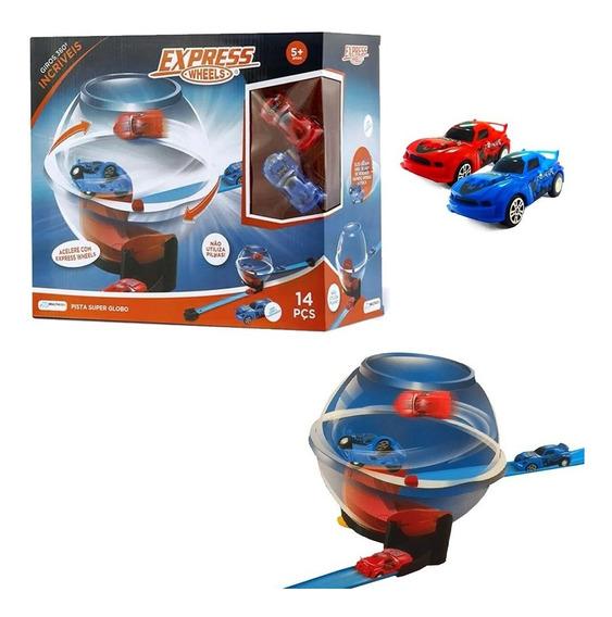Brinquedo Pista Carros Super Globo 2 Carros Br1022 Multikids