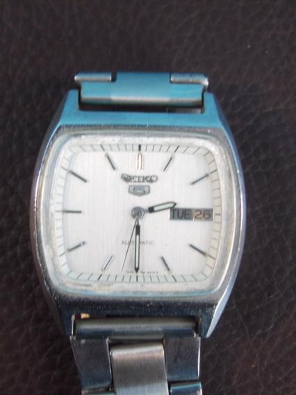 Relógio De Pulso Seiko 5 Automatico Calendario Funcionando