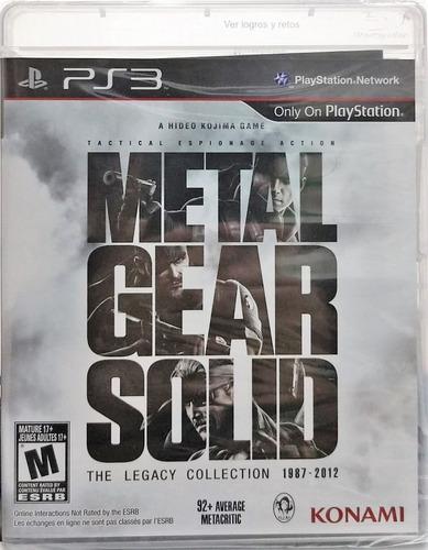 Imagen 1 de 3 de Metal Gear Solid: The Legacy Collection No Artbook - Ps3