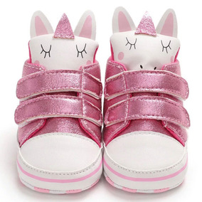 Botinha Bota Sapato Tenis Bebê Menina Unicornio Brilhoso