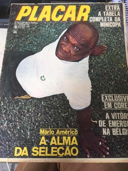 Mário Américo, A Alma Da Seleção Revista Placar Nº