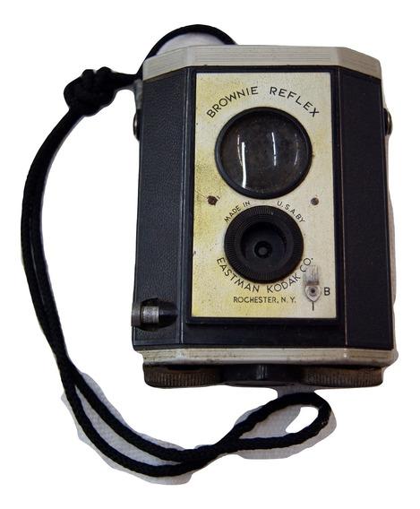 Máquina Vintage Fotográfica Kodak Brownie Heflex