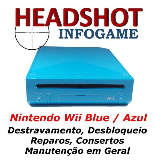 Consertos Manutenção Reparos: Nintendo Wii Blue Limited Azul