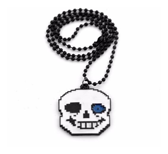 Collar Undertale Anime Cabeza Calavera Skull