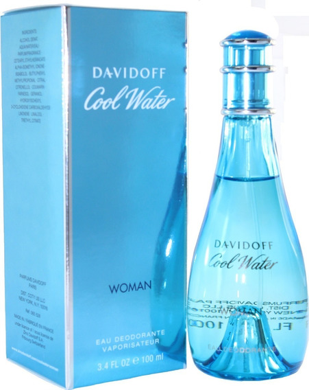 Perfume Davidoff Cool Water Feminino Edt 100ml Original + Amostra.