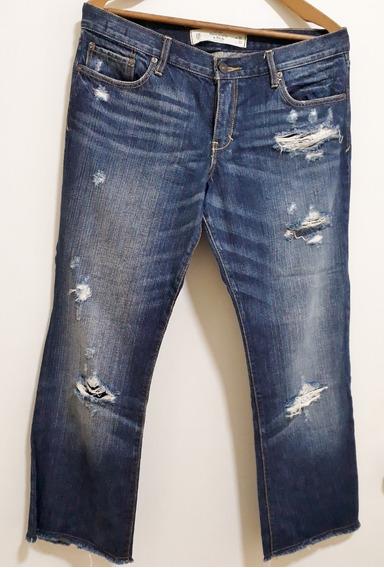 Calça Jeans Feminina Abercrombie & Ficth Destroyed W30/l33