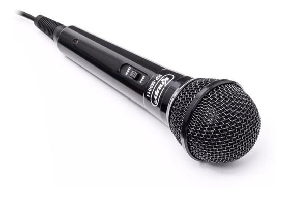 Microfone Com Fio Knup Dinãmico Kp-m0011 Capsula Metálica