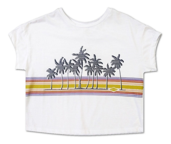 Remera Rip Curl Out Box Crop 03792 Cbl