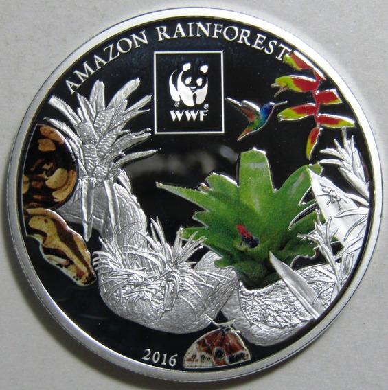 Tanzania Moneda 100 Shillings Niquel 2016 Amazonas Proof