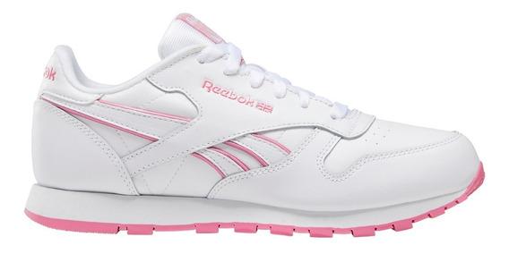 Zapatillas Reebok Classic Leather Bla/ros Mujer