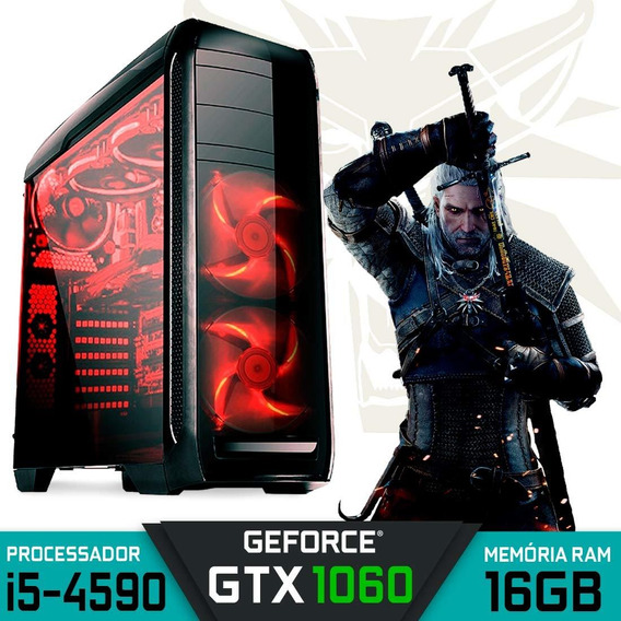 Computador Gamer Intel Core I5-4590 Gtx 1060 Ram 16gb 2tb Hd