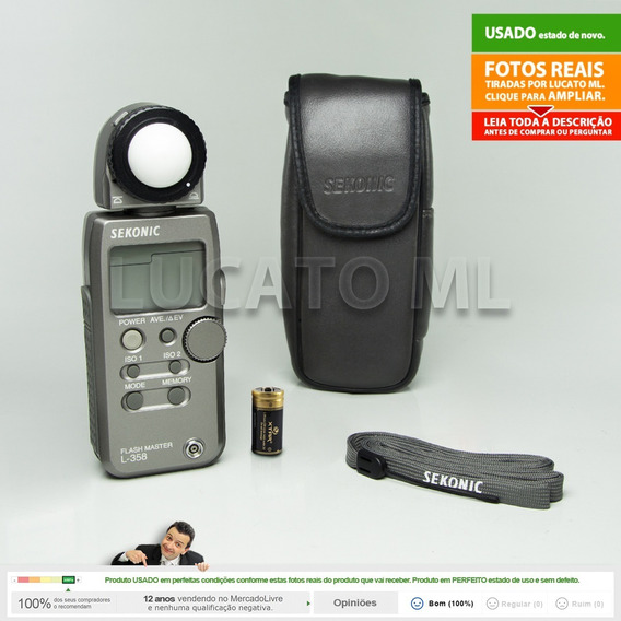 Fotômetro Sekonic L358 + Capa + Alça + Bateria Cr123a | 1b