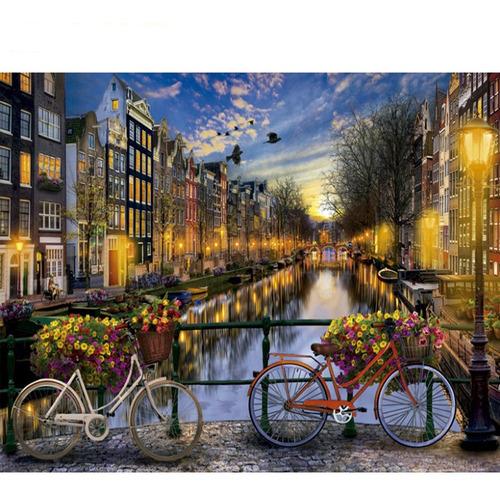Pintura Numerada Canais De Amsterdam_p2