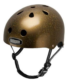 Capacete Nutcase Regulagem 52 - 59 Gold Sparkle Nut5845
