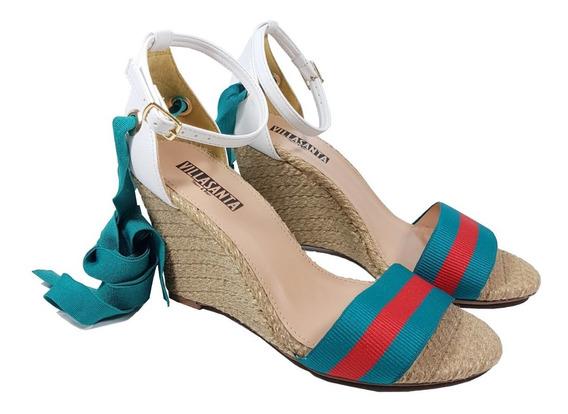Anabela Salto Médio 3 Em 1 Com Corda Ou Sem Azul Ou Verde