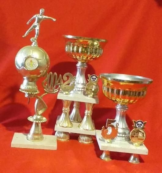 Lote De 4 Trofeos - Copas De Fútbol - 27, 32, 38 Y 46 Cm