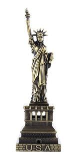 Estatuilla Escala Estatua De La Libertad 17cm Metal Decoraci