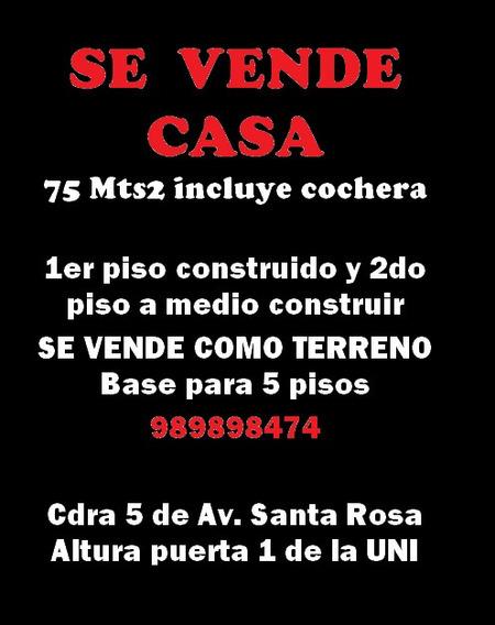 Casa 2 Pisos Cochera Y Aires 5 Pisos Smp (como Terreno)