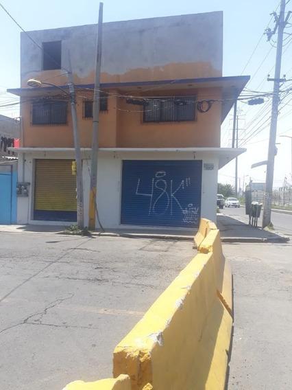 Nezahualcoyotl, Aurora Oriente, Terreno Con Construccion En Esquina
