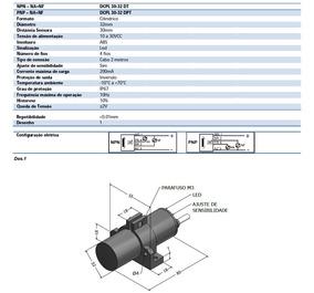 Sensor Capacitivo Na Nf Com 4 Fios Cc Sensorbras 2506