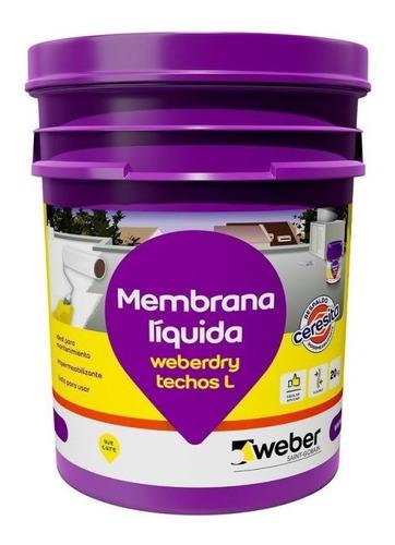 Membrana Líquida Techos L Weberdry Weber 20 K Blanco Teja Mm