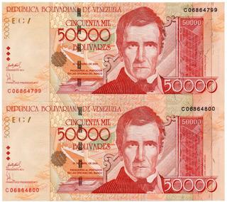 02 Billetes De 50.000 Bs Abril 2006 C8