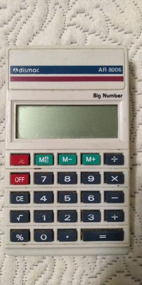Calculadora Dismac Ar 8006 Big Number Antiga Funciona * Ler