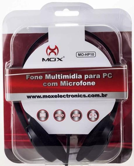 Fone De Ouvido Com Microfone Mox Mo-hp10 Preto