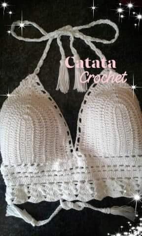 Top Tejido A Mano Crochet