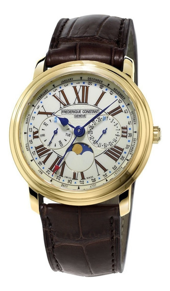 Reloj Frederique Constant Fc-270em4p5 Para Caballero Correa De Piel