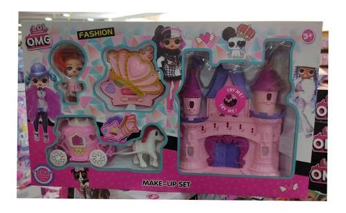 Lol Hermoso Castillo Plástico Con Carruaje Princess. Nuevos.