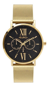 Relógio Feminino Euro Multi Glow Eu6p29ahc/4p 43mm Dourado
