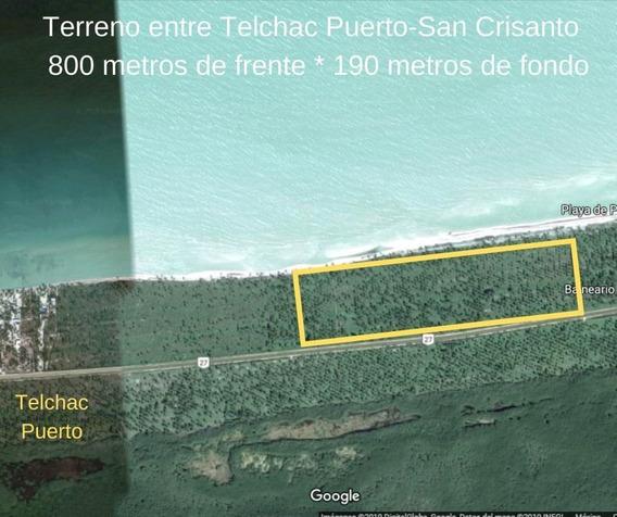 Terreno En Telchac Puerto De 800 Ml Frente Al Mar