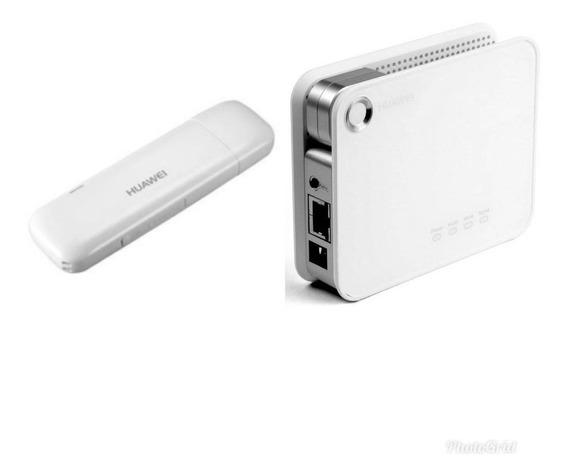 Kit Roteador Huawei 3g Wifi + Modem Entrada Antena Rural