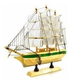 Barco Caravela Decorativo 24 Cm Réplica Em Madeira