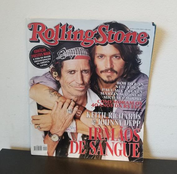 Revista Rolling Stone Keith Richards E Johnny Depp Jun 2007