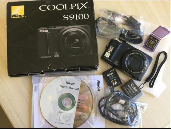 Câmera Nikon Coolpix S9100