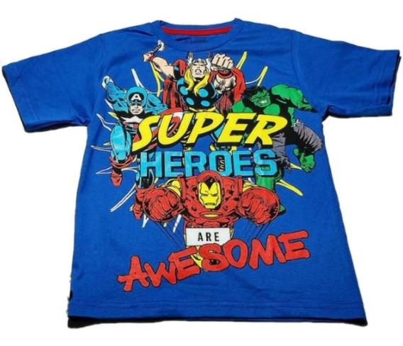 Kit Com 60 Camisas Infantis De Super Heróis Revenda Roupas