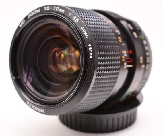 Lente Minolta Md 35-70 3.5 Macro. Adaptada A Canon