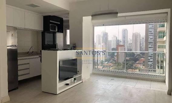 Apartamento Com 1 Dormitório Para Alugar, 35 M² Por R$ 3.200,00/mês - Brooklin - São Paulo/sp - Ap1759