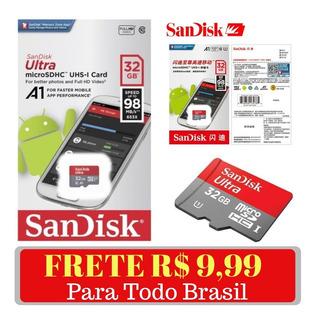 Cartão De Memória Sandisk Micro Sd Ultra 32gb Classe 10 Original - Frete R$ 9