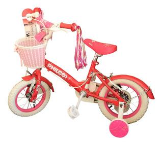 Bicicleta Rodado 12 Nena Infantil Philco Rosa