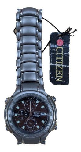 Reloj Citizen Titanio Eco-drive Hombre Alarma Ap-2050