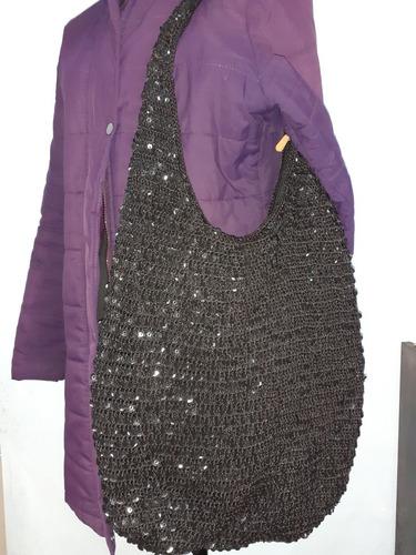 Bolso Negro Crochet