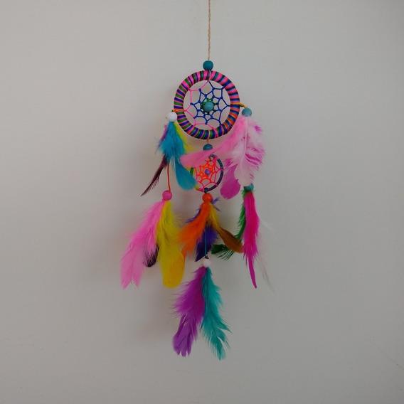 Filtro Dos Sonhos Com Penas Colorido Arco-íris Ref: 9472