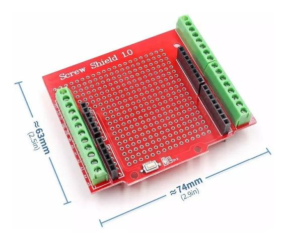 Placa Borne Para Arduino Uno; Cnc;3d