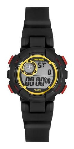 Relógio Mormaii Infantil Preto 1 Ano De Garantia Original