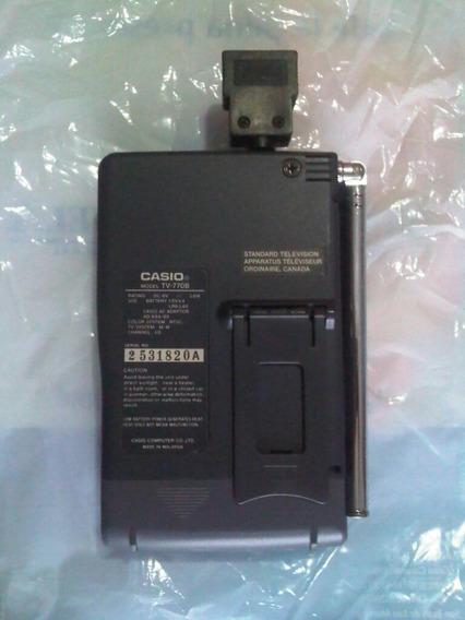 Mini Tv Casio A Color Modelo 770b + Adaptador A La Corriente