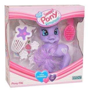 Muñeca The Sweet Pony Fiki Luminoso Con Accesorios Ditoys