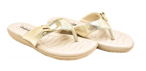 Chinelo Comfort Flex Metalizado Dourado 973264 Promoção